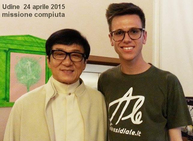Antonio Cavallini incontra Jackie Chan a Udine